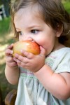 little girl apple